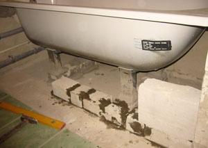 Этапы закрепления ванны