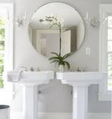 Выбираем круглое зеркало для ванной комнаты