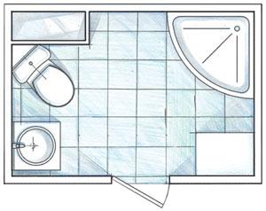 перепланировка и ремонт в маленькой ванной