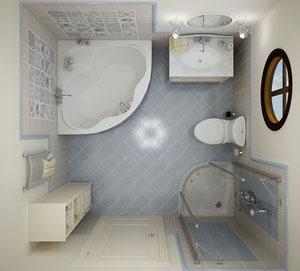 интерьера маленьких ванных комнат