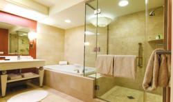 Световое зонирование в ванной комнате