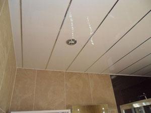 Как сделать пластиковый потолок в ванной комнате