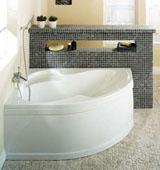 Основные разновидности угловых ванн