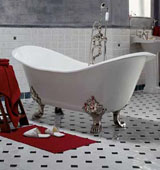 Применение акрилового вкладыша в чугунную ванную