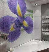 Как сделать панной из плитки в ванной комнате