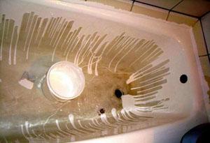 Реставрация ванны жидким акрилом методом «налива»