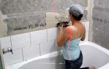 Стандартная укладка плитки в ванной комнате