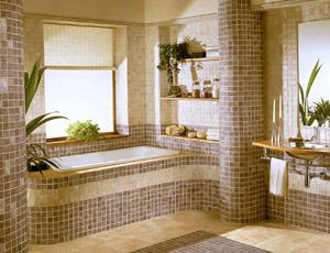 Особенности отделки мозаикой стен