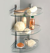 Разновидности полок для ванной