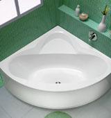 Разновидности треугольных ванн