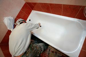Восстановление ванны жидким акрилом методом «налива»
